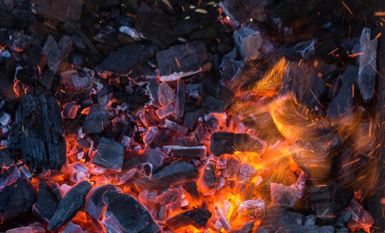 Carvão ou lenha?